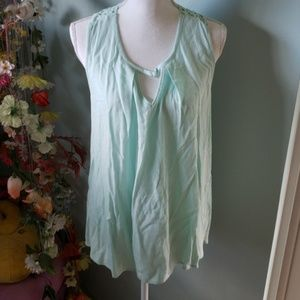Altar'd State Light Mint Embroidered Top